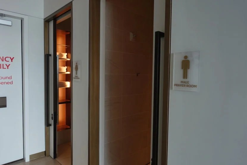 Separate male and female prayer rooms.