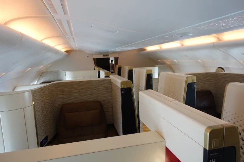Another shot of the cabin from the front. As you can see, some seats face backwards.