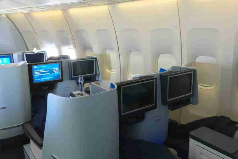The 2-2 layout throughout most of the business-class cabin just isn