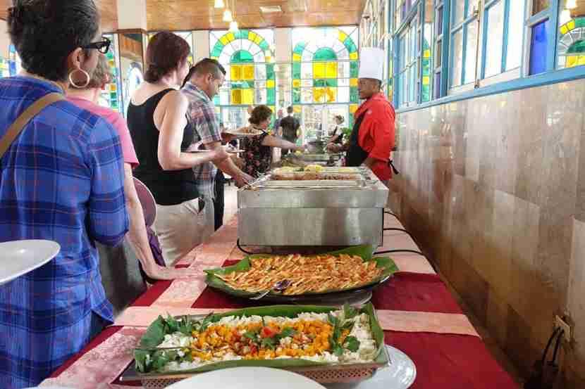 A peek at the lunch buffet at the Tropicana, Santiago de Cuba.