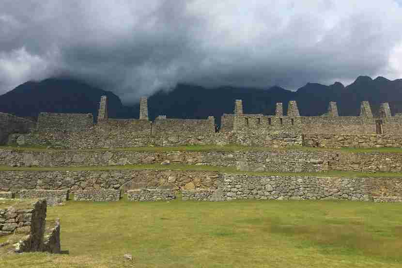 The world famous ruins at Machu Picchu.