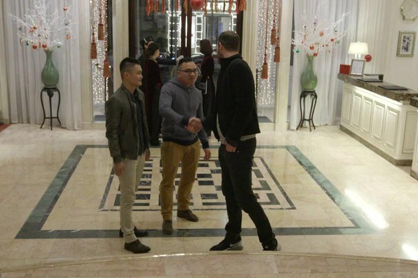 Meeting DJ Hùng at the Hotel Metropole Hanoi.
