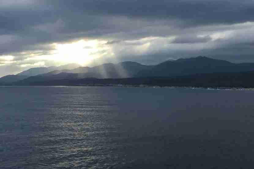 A last look at Santiago de Cuba as we sailed for Miami.
