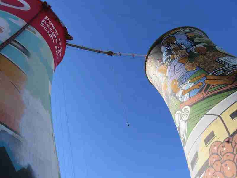 In Soweto, a township of Johannesburg, find new ways to make memories in South Africa…like bungee jumping from the Orlando Towers.