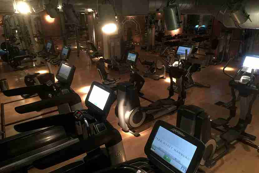 The gym is located in the hotel