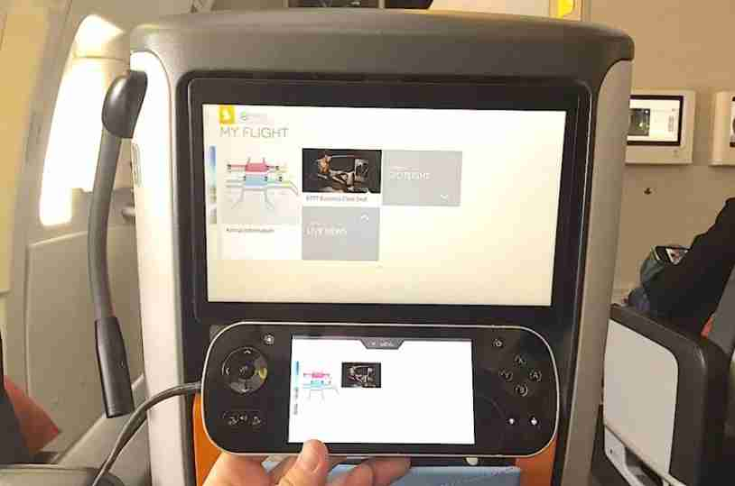 The in-flight entertainment in Singapore