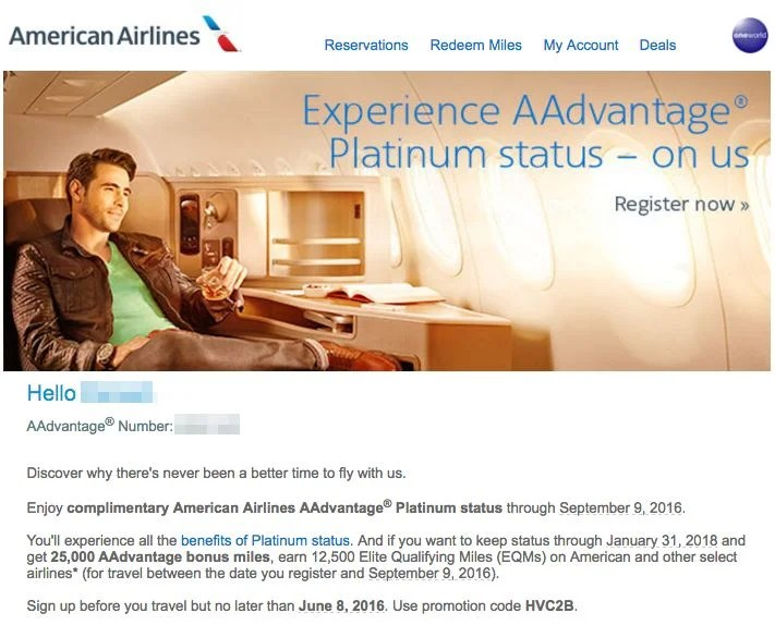 American airlines eqm promotional giveaways