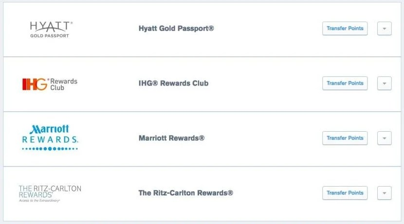 Programs like Ultimate Rewards allow you to transfer points directly to your desired hotel chain.