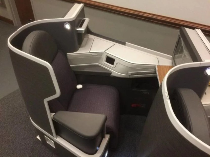 Another look at AA's new business-class seat.