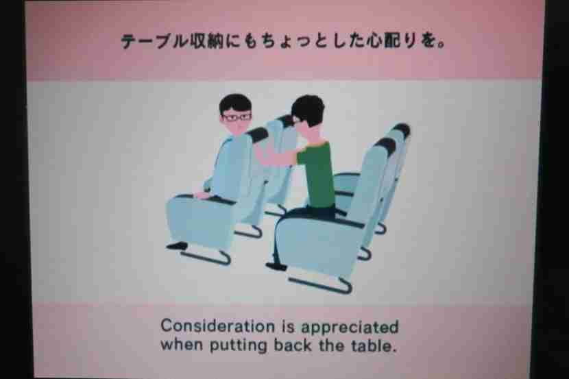 """The """"Inflight Manner"""" video provided comical reminders to be polite."""