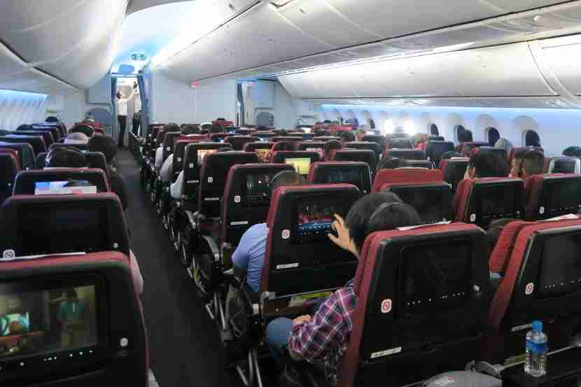Despite an almost full economy cabin, the flight was comfortable and the service high-quality.