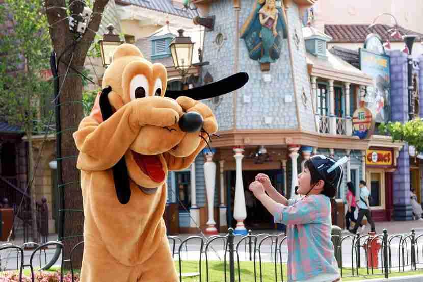 You can meet Pluto along Mickey Avenue, Shanghai Disneyland
