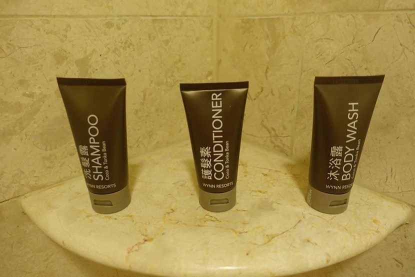 I enjoyed the Molton Brown cosmetics provided by the hotel.