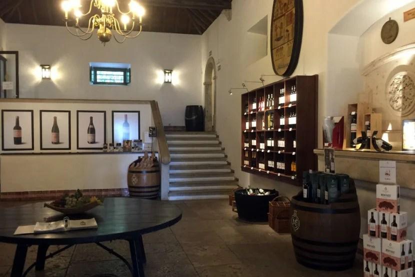 The store at José Maria da Fonseca.