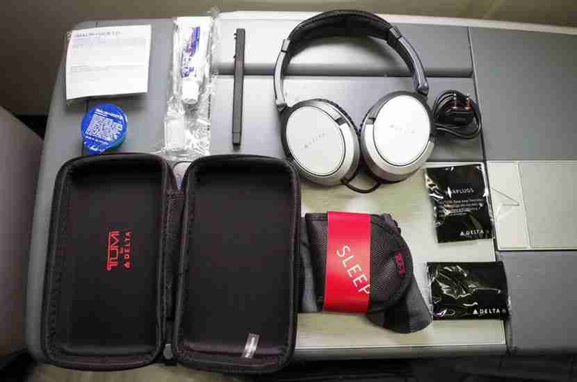The contents of my Tumi amenity kit included all of the basics.