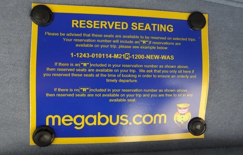 The benefits of a reserved seat... For $1 more, why not?