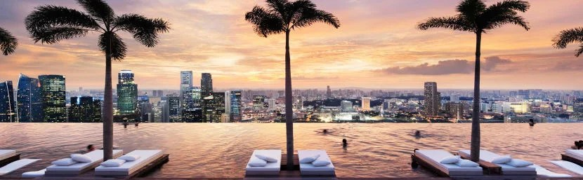 Marina Bay Sands may just be the most famous hotel pool in the world. Photo courtesy of hotel.