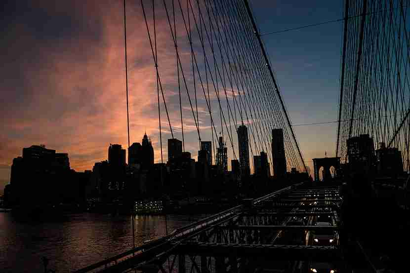 Sunset over downtown Manhattan. Image by Mitch Berman.