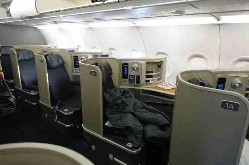 First class aboard AA
