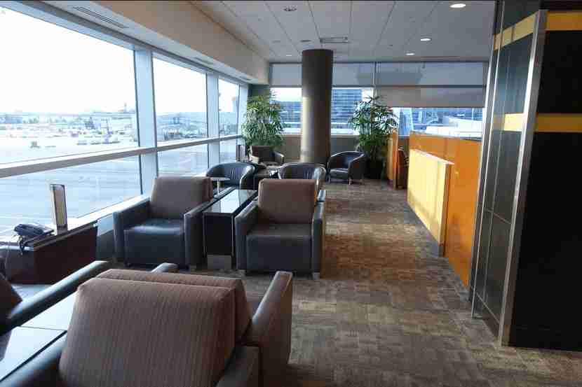 When the lounge has very few guests visiting, it really makes for a nice place to recoup from a long flight.
