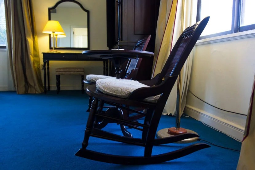 An old rocking chair.