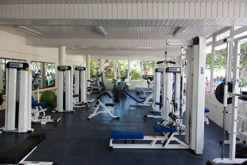 The fitness center was pretty big and seemed to go unused.