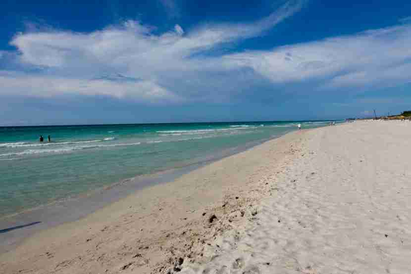 The beach was spectacular.