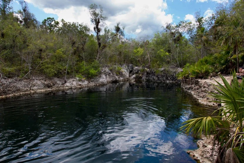 Spend a relaxing day snorkeling at Cueva de los Peces, a natural, salt water cenote.