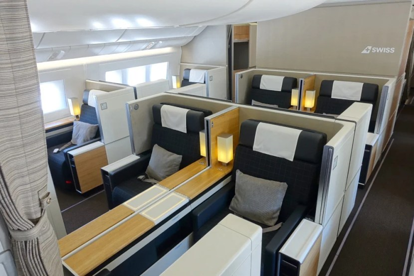 And Finally The First Class Cabin Which Was Completely Empty On This Flight To Montreal