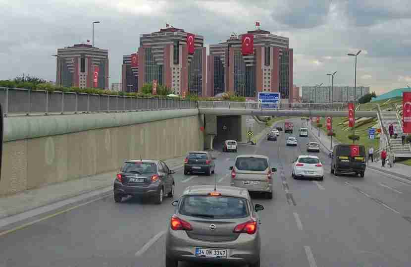We spotted a lot of Turkish flags on the drive into the city center from the airport.