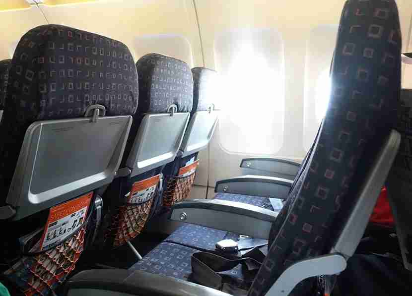 Gray-and-orange seats must mean we