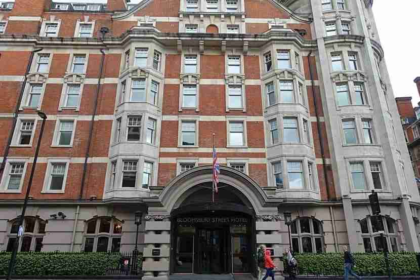 The exterior of the Radisson Blu Bloomsbury Hotel in London.