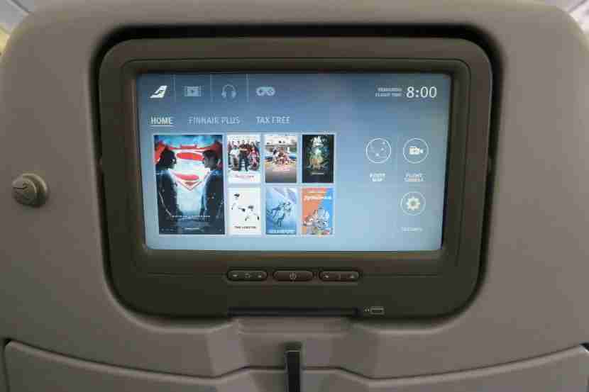 The IFE screens were crisp, but not very responsive to light touches.