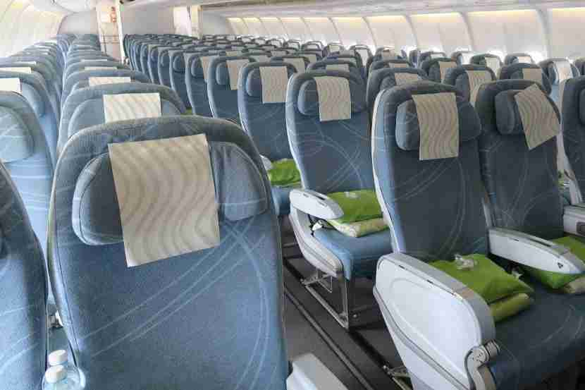 The reareconomy section— which contained no Economy Comfort seats — felt light and airy like the forward economy section.