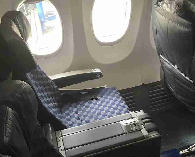 737-800 business recliner seat which I had on four of my eight legs.