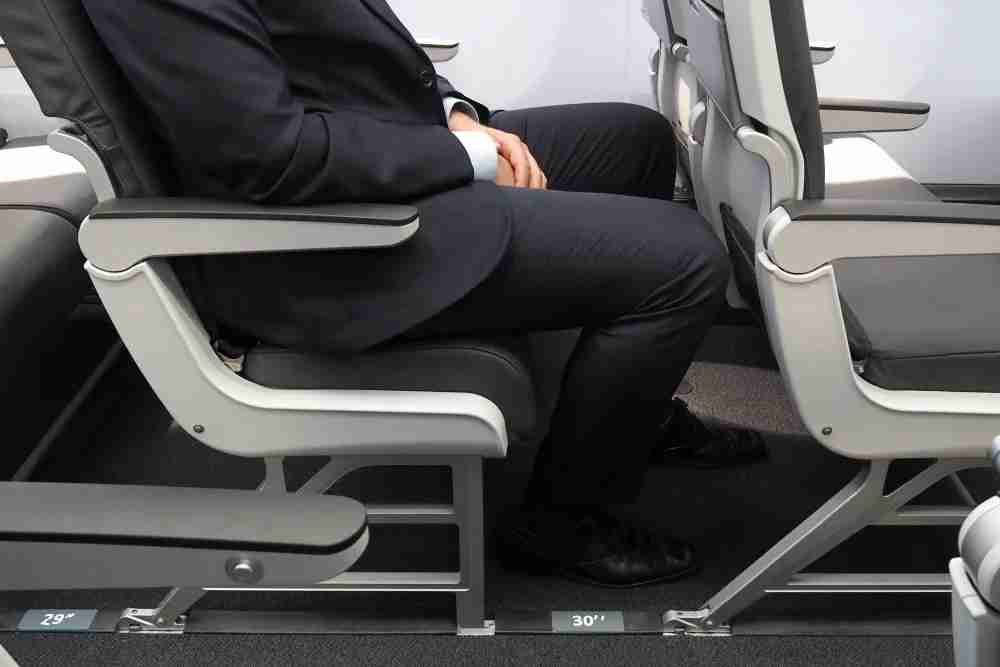 30 inches of seat pitch with a slimline seat and a 5