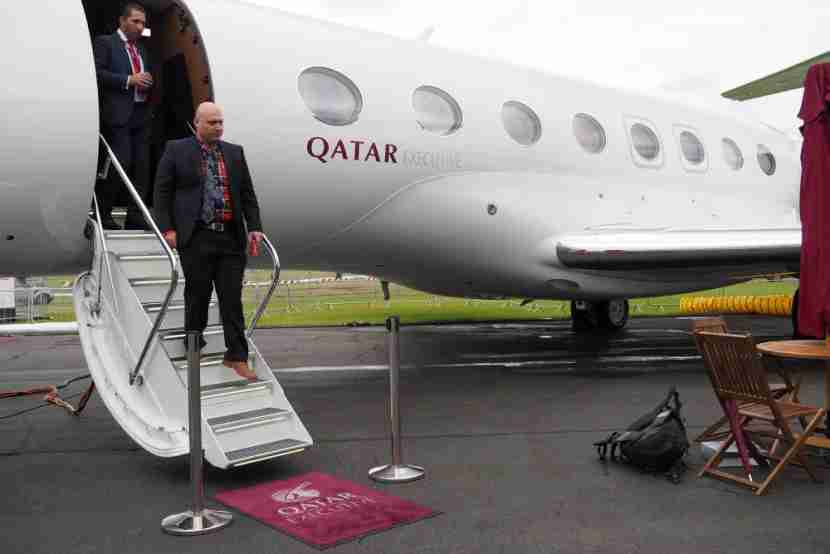 Qatar Gulfstream G650 Farnborough