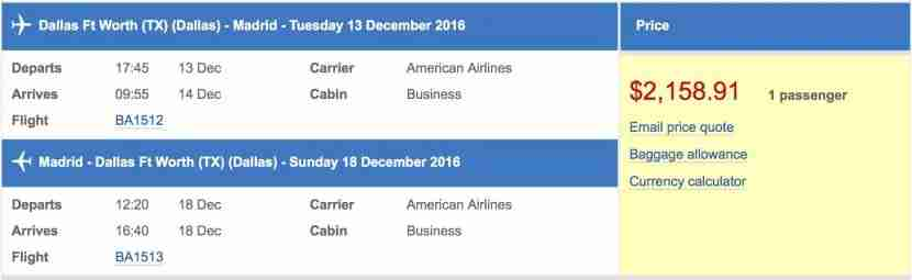 Using the AARP discount on British Airways