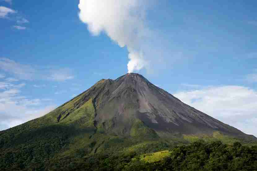 Arenal volcano in Costa Rica. Image Courtesy of Shutterstock.