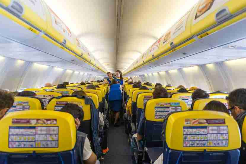 The Ryanair flying experience. Photo courtesy of Shutterstock.
