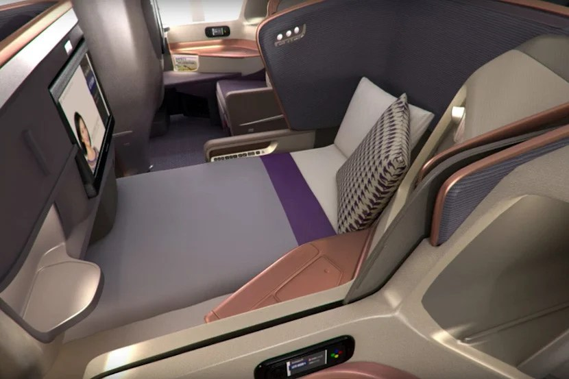 Singapore Airlines' business class on the A350.
