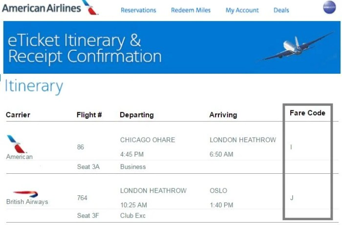 You'll need to know your Booking/Fare Code for partner flights.
