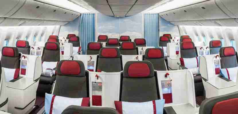 Austrian Airlines business class (Photo by Austrian Airlines)