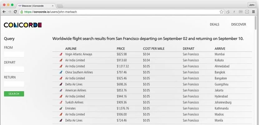 Sign-up and sign-in for a personalized list of flight deals from your departure cities.