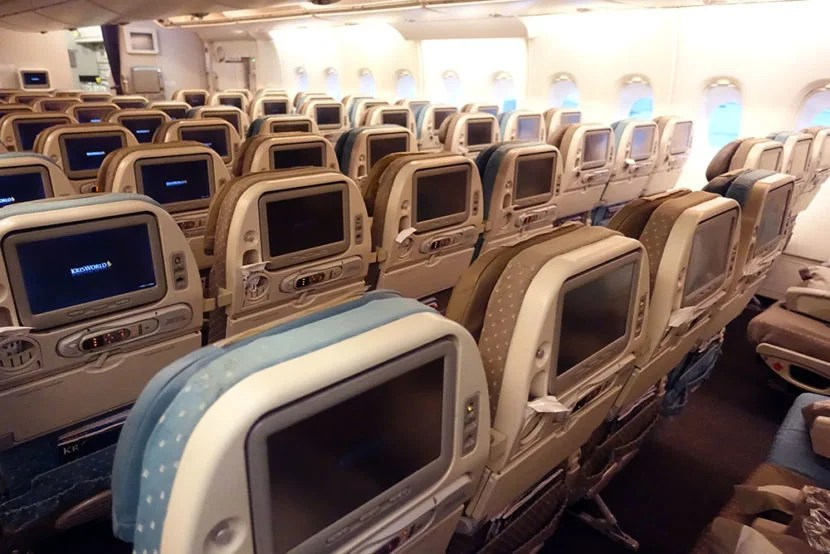 Singapore's economy cabin is a bit dated.