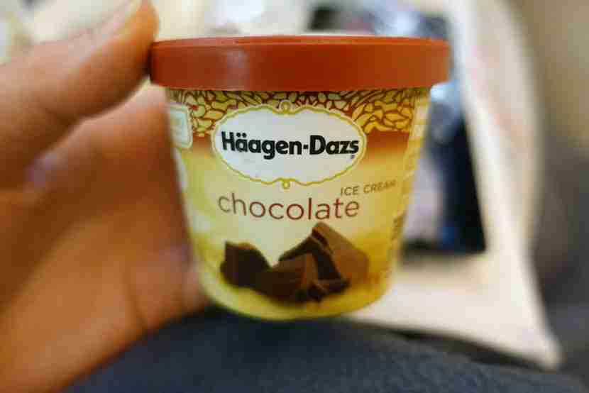 The Haagen-Dazs was a little too frozen.