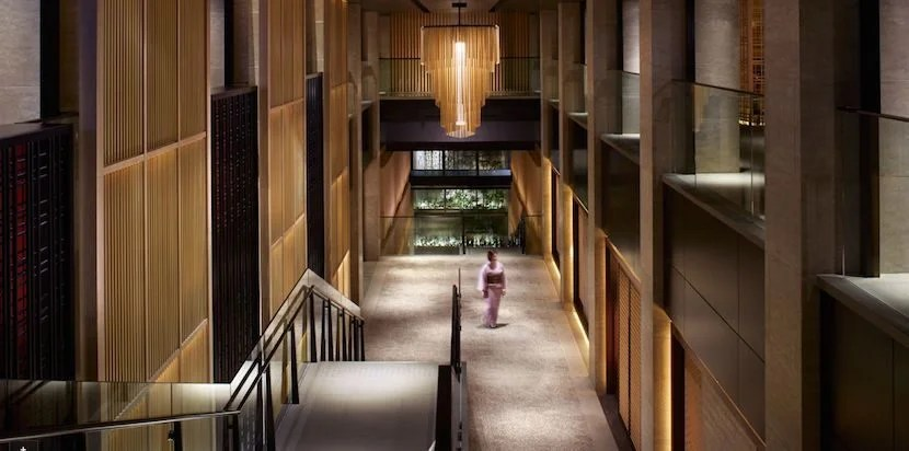 The Ritz-Carlton, Kyoto is a new property located on a river in the ancient Japanese capitol. Photo courtesy of Ritz-Carlton.