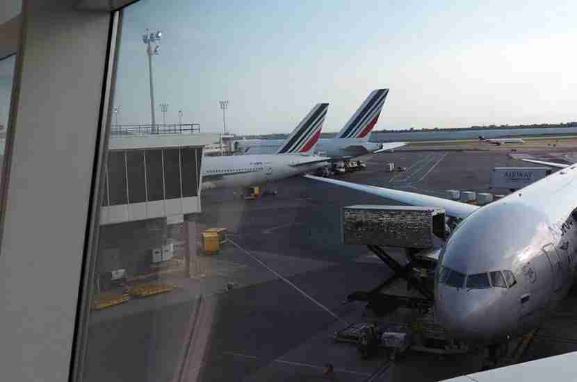 The La Première room in the Air France lounge at JFK was a great spot for plane watching.