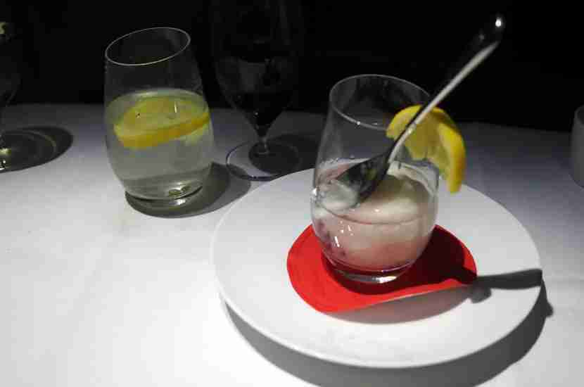 The lemon sorbet and vodka was interesting.