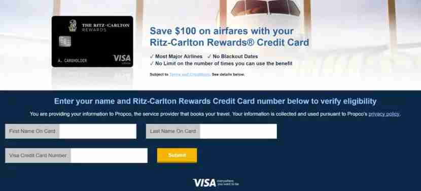 Visa Discount Air Benefit